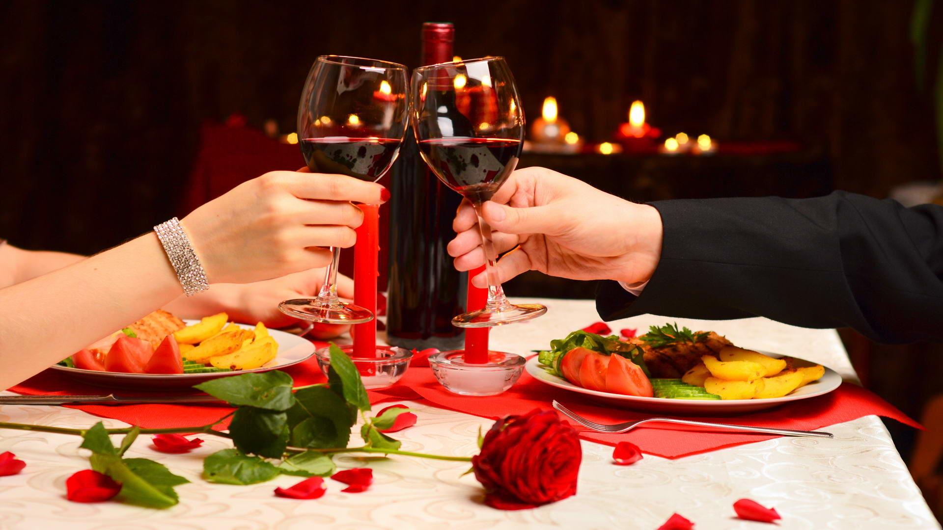 картинки с свечами сердечками ужин для двоих температуре